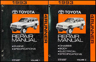 1993 Toyota 4Runner Repair Manual Set Original