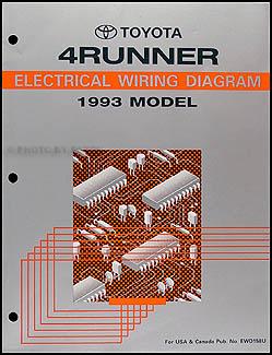 1993 toyota 4runner wiring diagram manual original rh faxonautoliterature com 93 toyota pickup wiring diagram 93 toyota 4runner wiring diagram