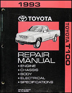 1993 1996 toyota t100 truck automatic transmission repair shop manual rh faxonautoliterature com 92 Toyota Pickup 94 Toyota Pickup