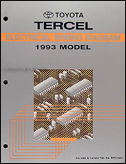 1993 toyota tercel wiring diagram manual original rh faxonautoliterature com