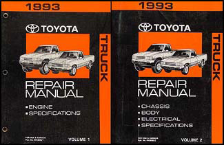 1993 toyota truck repair shop manual set original rh faxonautoliterature com 95 Toyota Pickup 92 toyota pickup repair manual