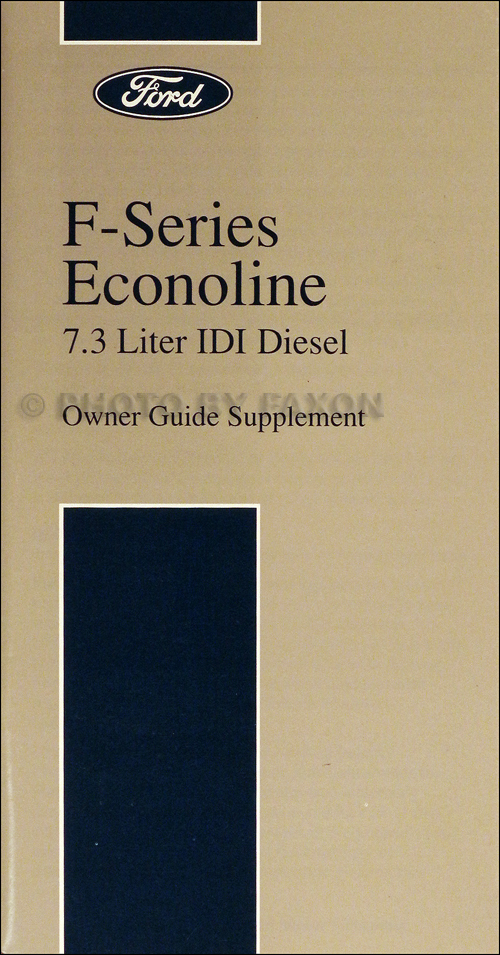 ford  idi diesel owners manual original