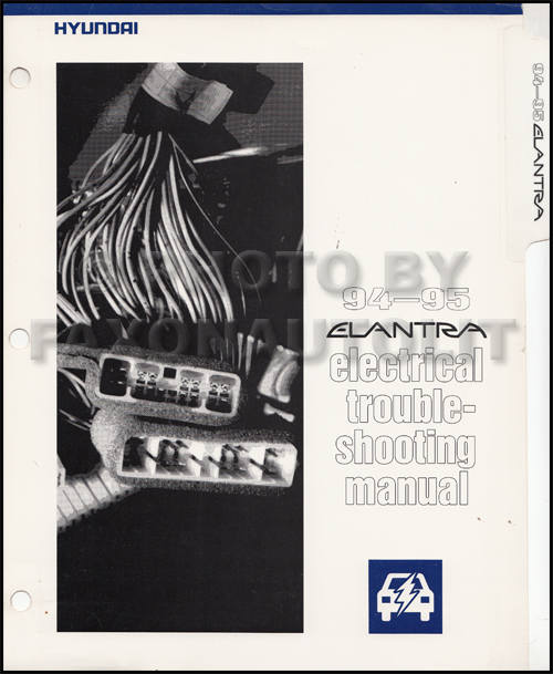 1995 Hyundai Elantra Repair Shop Manual Original 2 Vol  Set