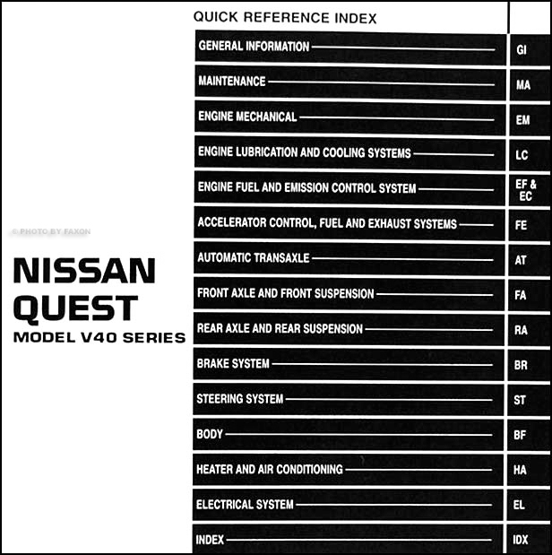 1994-1995 Nissan Quest Van Repair Shop Manual Original