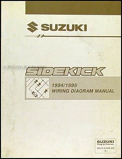 1994-1995 Suzuki Sidekick 1600/Sport 1800 X-90 Wiring Diagram Manual