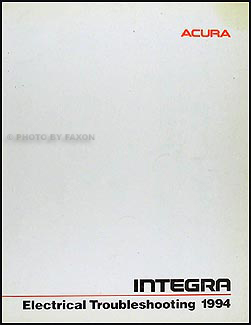 1994 Acura Integra on 1994 Acura Integra Electrical Troubleshooting Manual Original