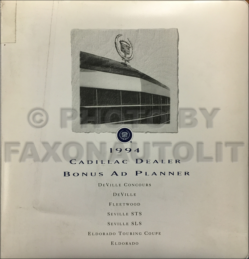 1994 Cadillac Dealer Advertising Planner Original