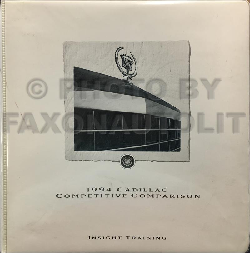 1994 Cadillac Competitive Comparison Guide Original Dealer Album