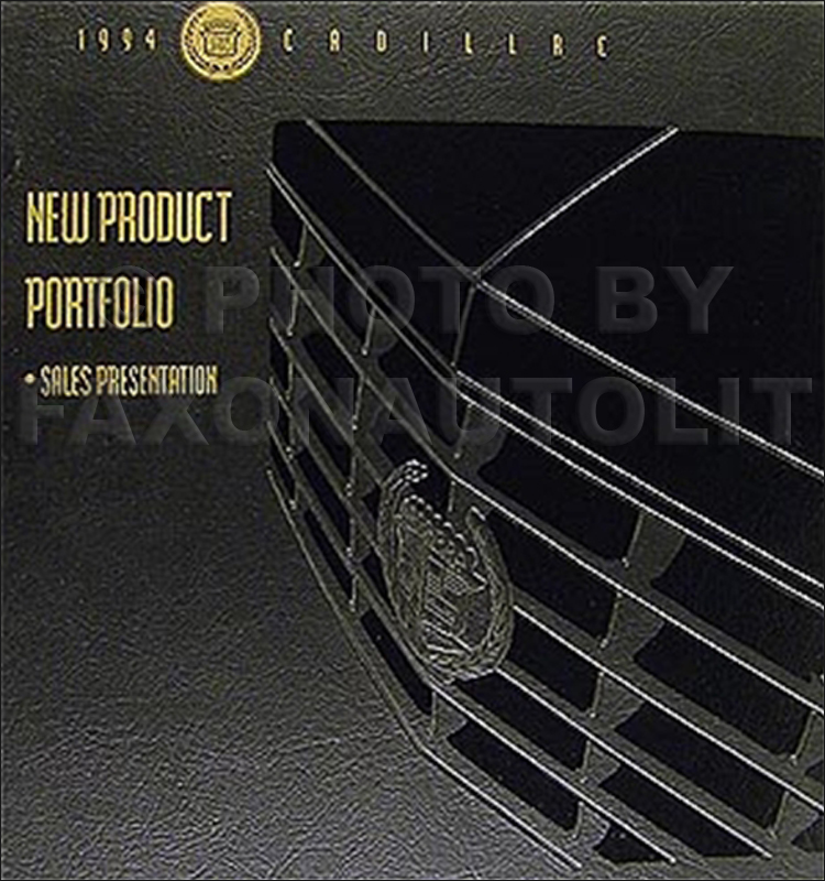 1994 Cadillac Product Portfolio - Data Book and Color & Upholstery Album -- Canadian
