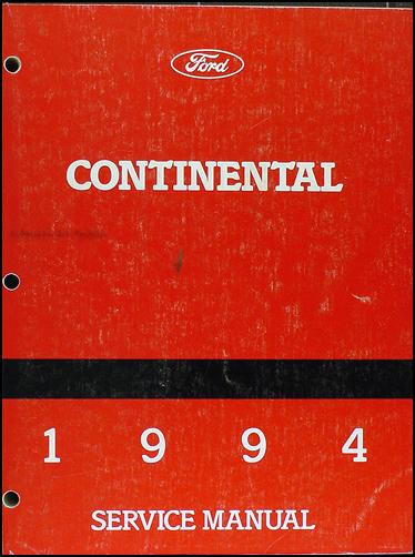 1994 lincoln continental repair shop manual original. Black Bedroom Furniture Sets. Home Design Ideas