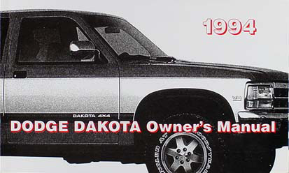 1994 dodge dakota pickup truck original owner s manual pack rh faxonautoliterature com 1992 dodge dakota owners manual pdf 1993 dodge dakota owners manual