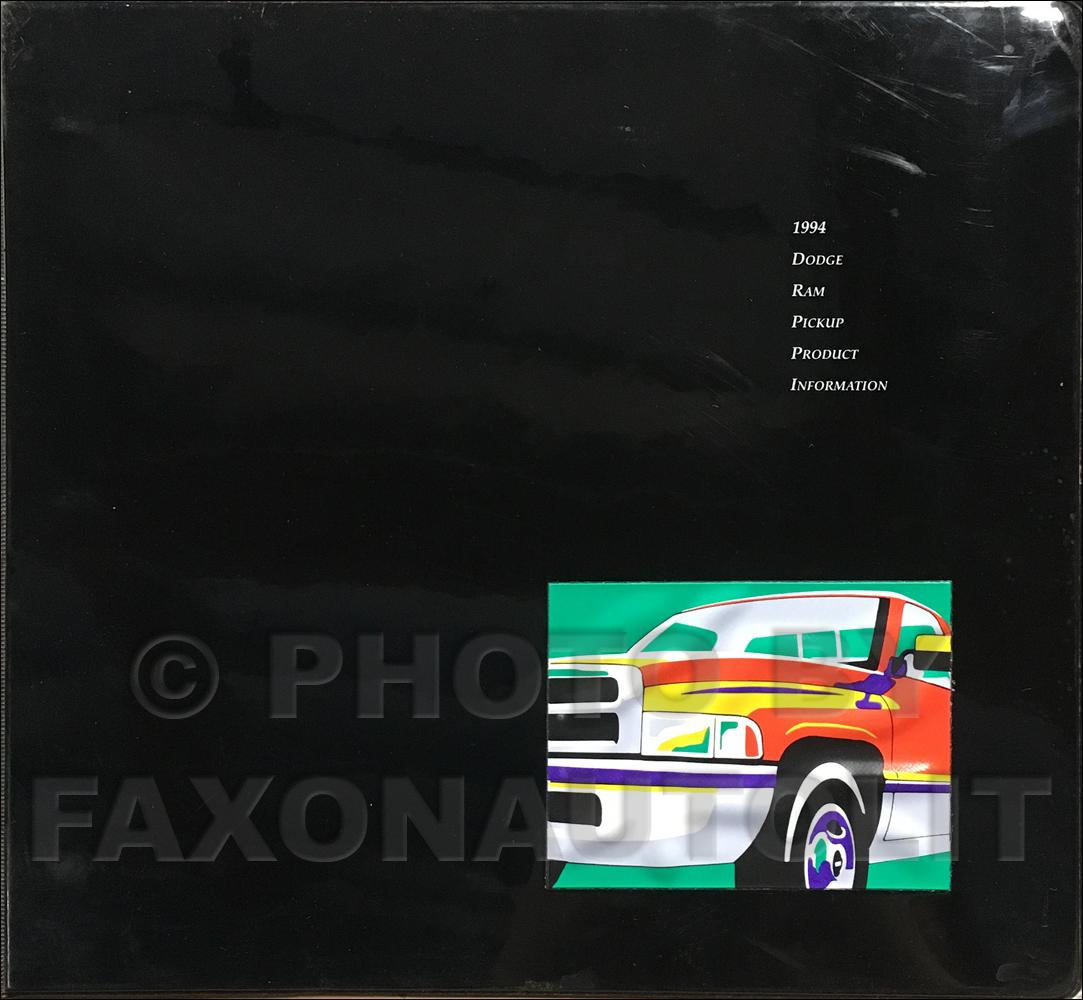 1994 Dodge Ram Pickup Product Information Press Kit Original
