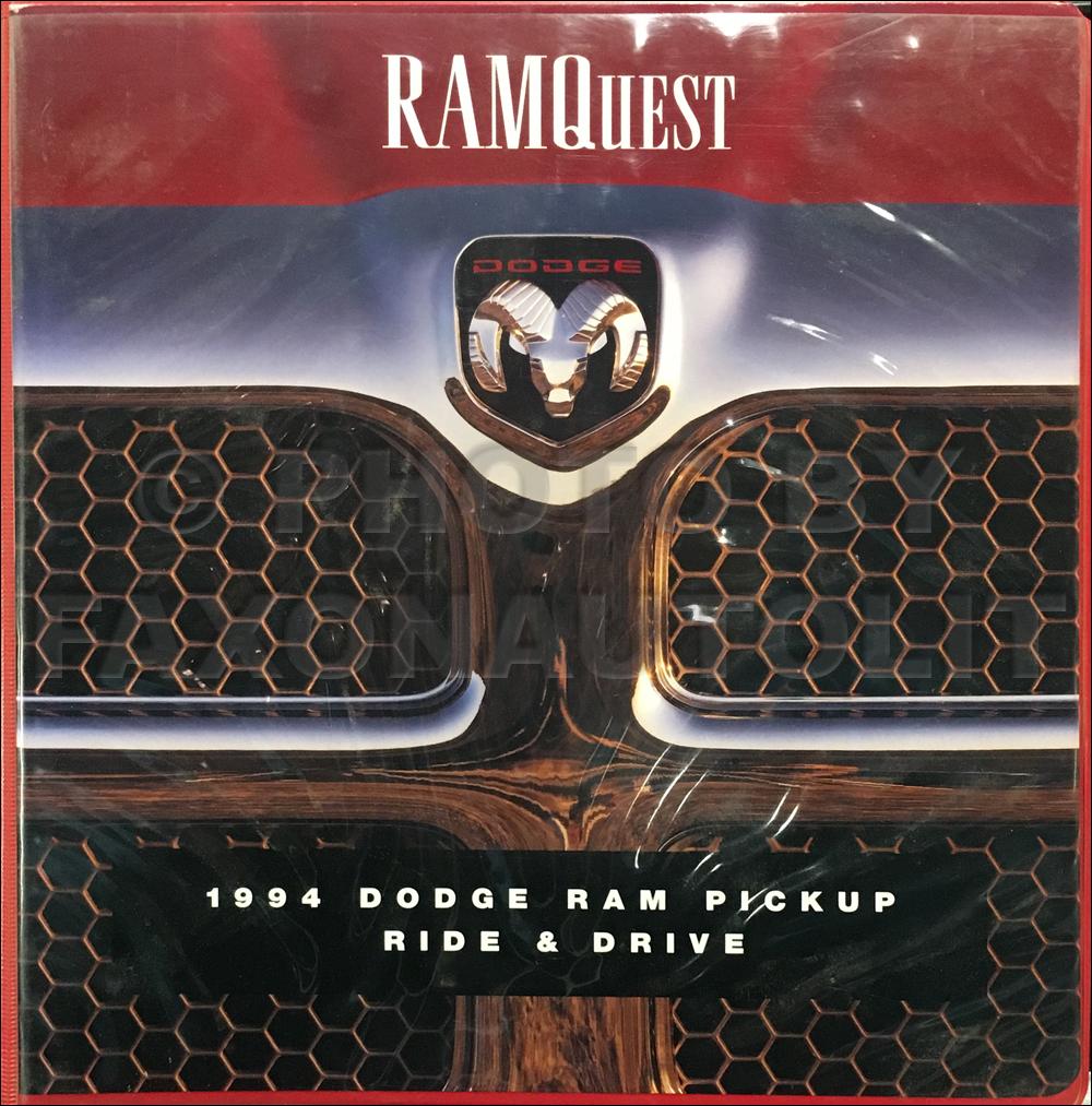 1994 Dodge Ram Truck Test Drive Dealer Album Original