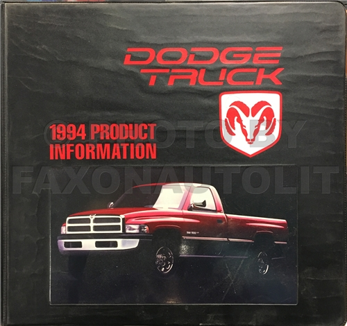 1994 Dodge Truck Color & Upholstery Album and Data Book Original