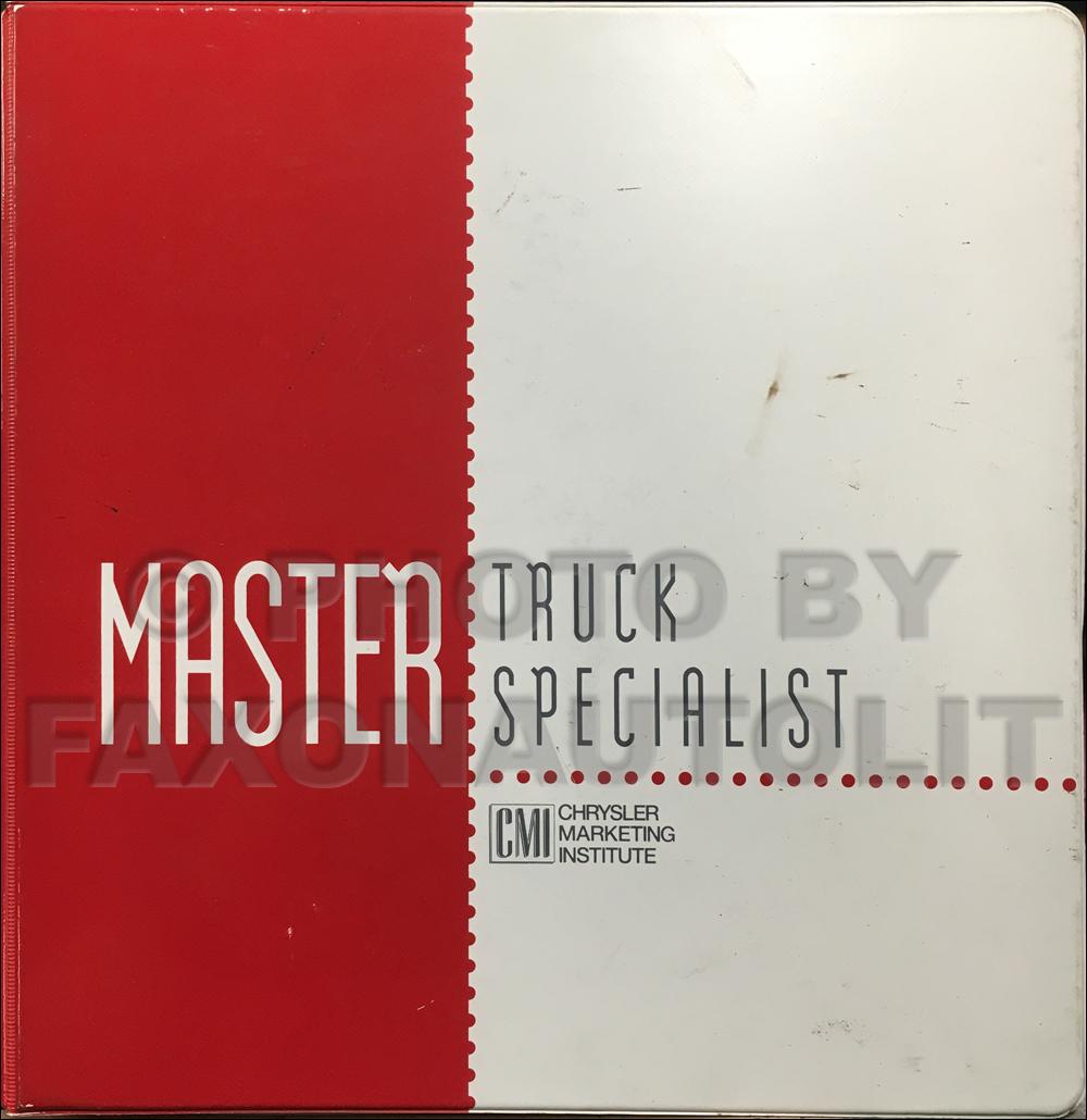 1994 Dodge Truck Master Truck Specialist Sales Training Album Original