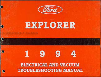 1994 Ford Explorer Electrical and Vacuum Troubleshooting Manual