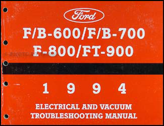 1994 ford f600 f700 f800 ft900 cab foldout wiring diagram original 1994 ford b f 600 900 medium heavy truck electrical troubleshooting manual