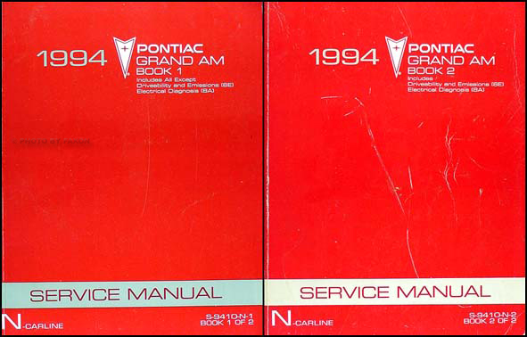 1994 Pontiac Grand Am Repair Shop Manual Set 94 Se Gtp Gt