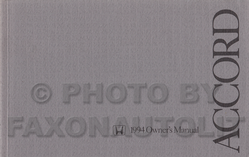 1994 honda accord coupe  u0026 wagon service manual supplement