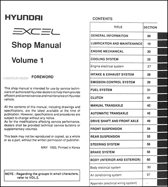 2005 1994 hyundai excel manual how to and user guide instructions u2022 rh taxibermuda co hyundai excel 1994 manual download hyundai excel 1994 service manual