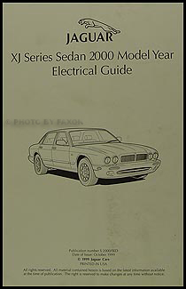2000 jaguar xj8 and xjr electrical guide wiring diagram original rh faxonautoliterature com 1999 jaguar xj8 wiring diagrams jaguar xj wiring diagram
