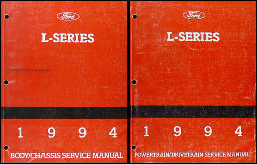 1994 ford l series foldout wiring diagram l8000 l9000 lt8000 1994 ford l series 7000 9000 repair shop manual original 2 volume set 189 00