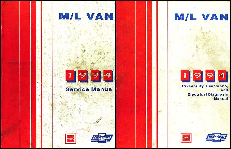1994 chevy astro van gmc safari repair shop manual set 94 original rh ebay com 1994 GMC Safari Dashboard 1996 GMC Safari