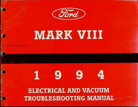 1994 lincoln mark viii foldout wiring diagram original