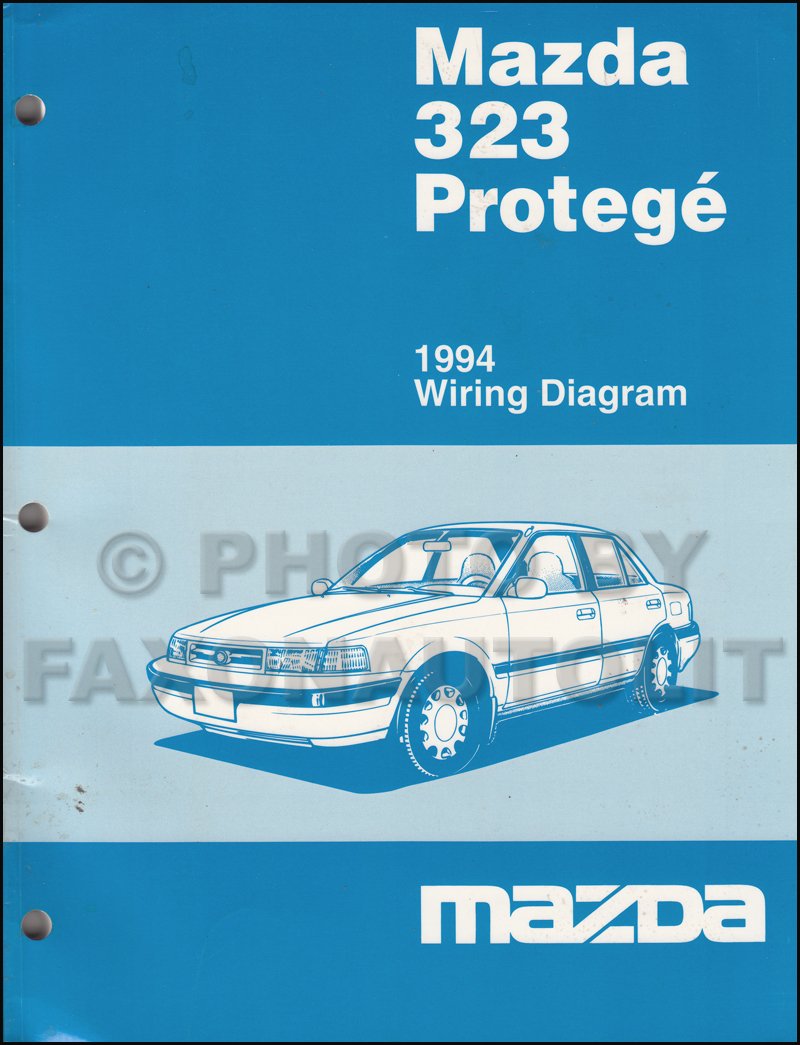 1994 mazda 323 and protege wiring diagram manual original. Black Bedroom Furniture Sets. Home Design Ideas