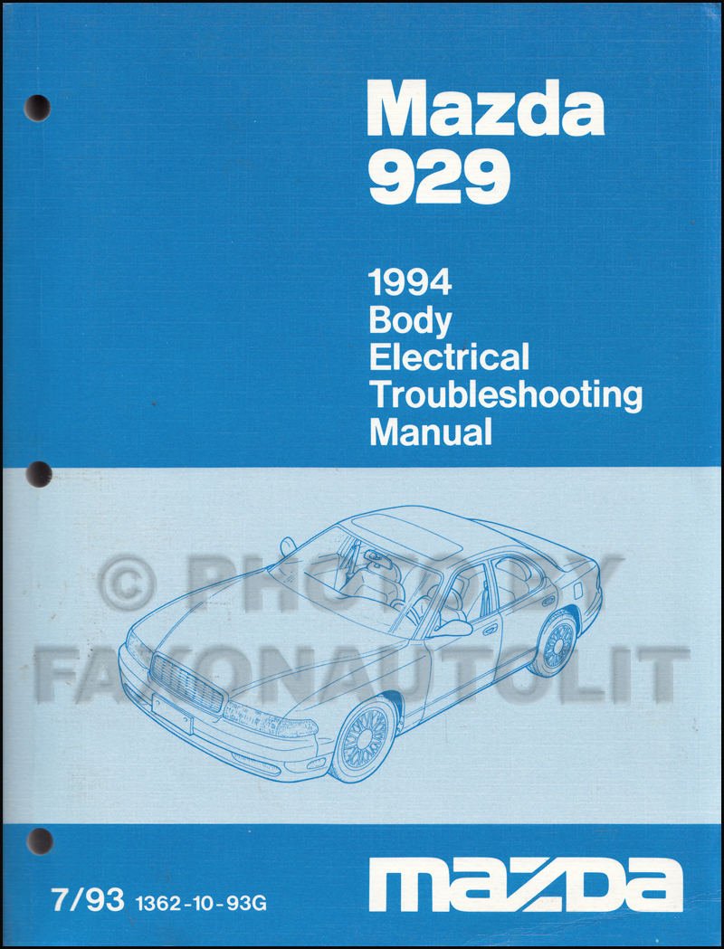 1994 Mazda 929 Body Electrical Troubleshooting Manual Original Dutch Door Wiring Diagram Pickup Truck Repair B2300 B3000 B4000