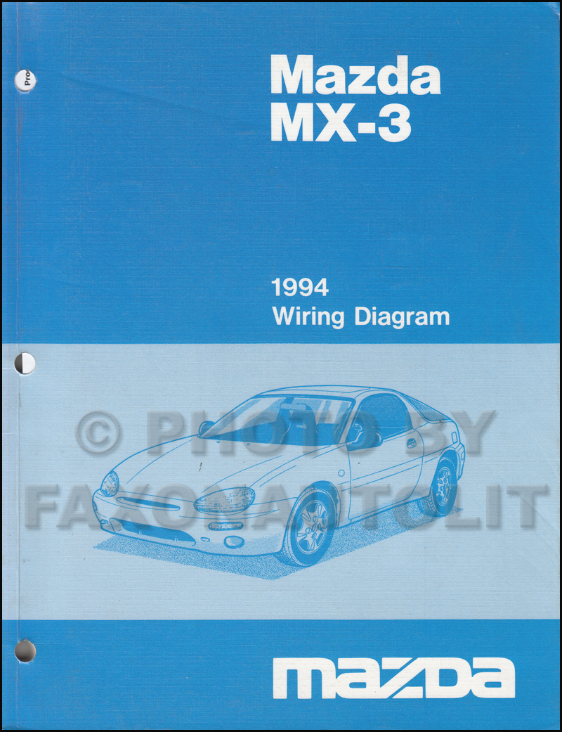 1994 mazda mx 3 wiring diagram manual original