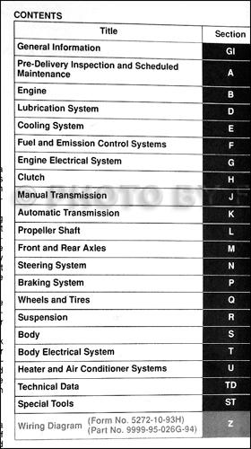 1994 Mazda Mx Miata Repair Shop Manual Original