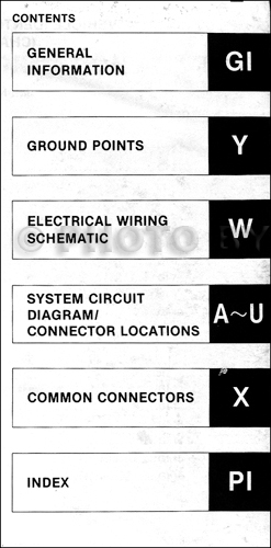 1994 mazda mx 5  miata electrical wiring diagram original