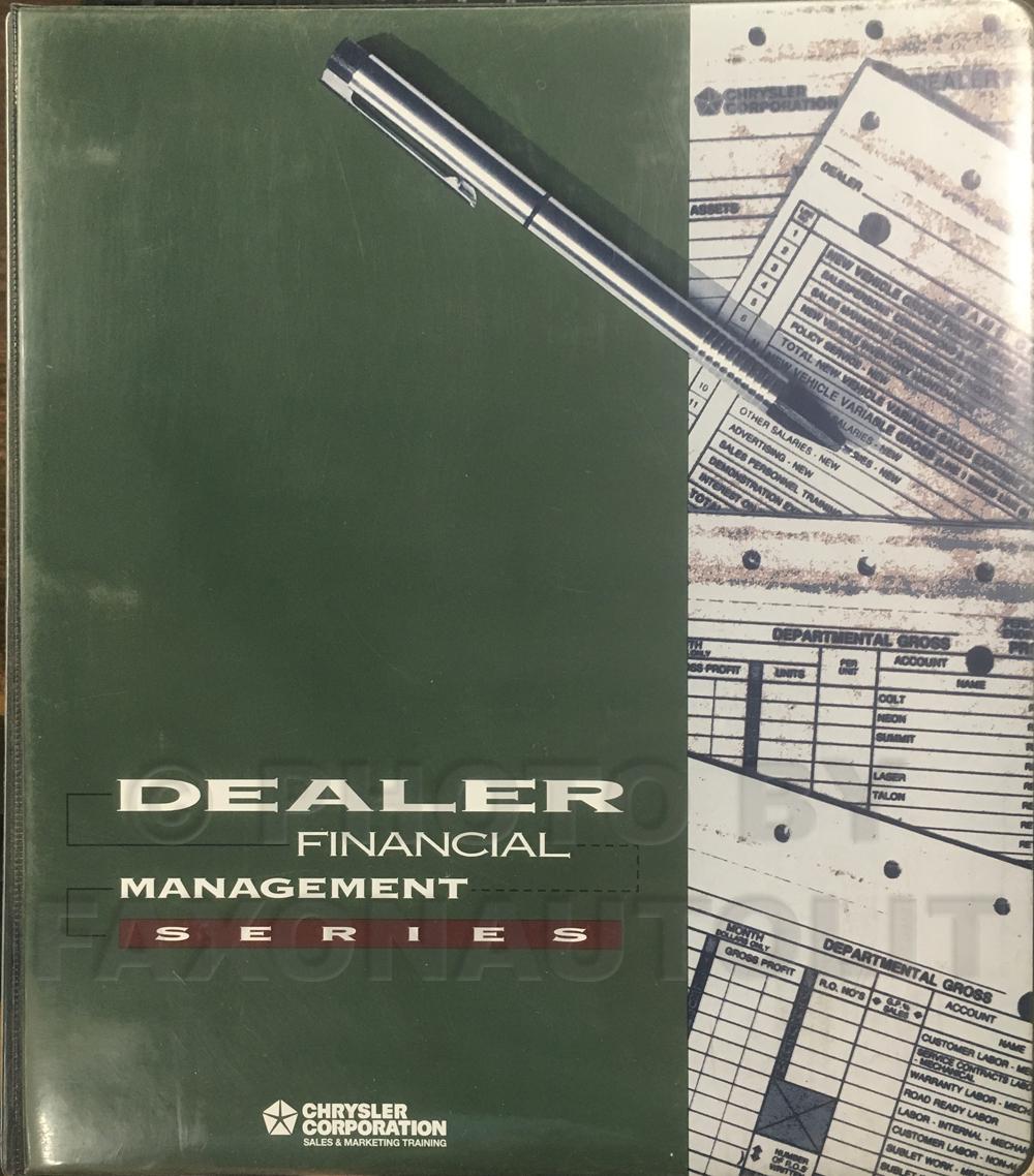 1994 MoPar Dealer Financial Management Instruction Manual