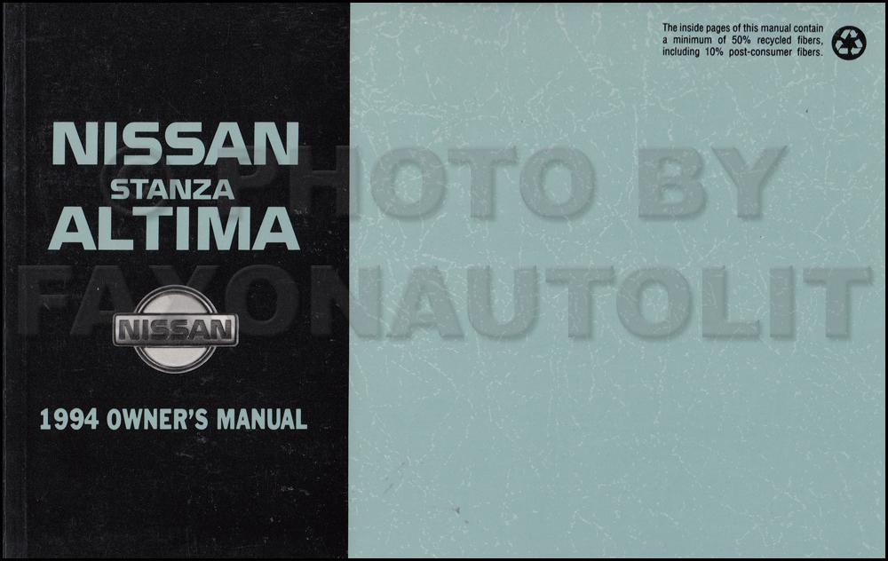 1994 nissan stanza altima owner s manual original rh faxonautoliterature com 2005 nissan altima owner manual 2005 nissan altima service manual