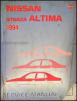 1994    Nissan       Stanza       Altima       Repair    Shop Manual Original