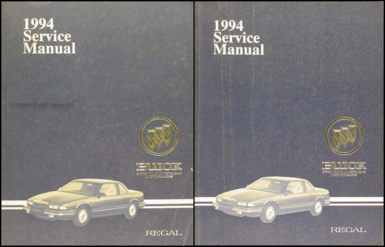1994 buick regal repair shop manual original set rh faxonautoliterature com 90 Buick Regal 93 Buick Regal