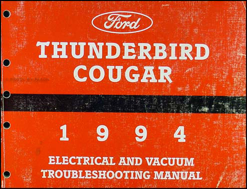 1994 ford thunderbird mercury cougar wiring diagram original 1994 ford thunderbird mercury cougar electrical troubleshooting manual