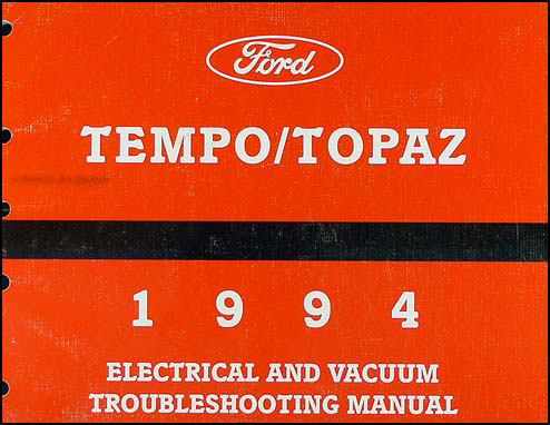 1994 ford tempo mercury topaz electrical vacuum troubleshooting manual rh faxonautoliterature com