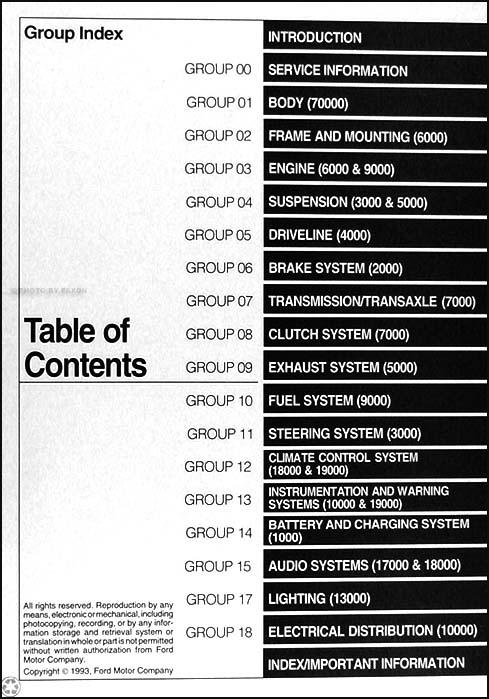 1994 ford tempo mercury topaz repair shop manual original rh faxonautoliterature com Vehicle Owner's Manual 93 ford tempo service manual
