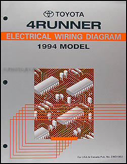 1994 toyota 4runner wiring diagram manual original rh faxonautoliterature com 94 toyota 4runner wiring diagram 1994 toyota pickup electrical diagram
