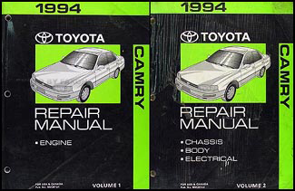 1994ToyotaCamryORMSet 1994 toyota camry repair shop manual original 2 vol set 1994 toyota camry wiring diagram at edmiracle.co