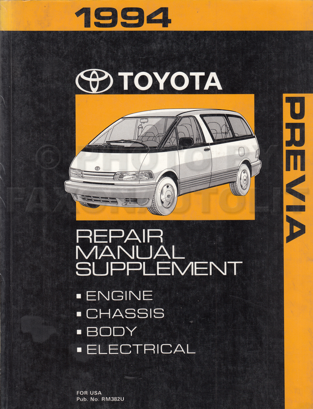 1994 Toyota 4runner Wiring Diagram Manual Original Library 1996 Previa Van Repair