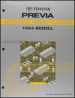 1994 Toyota Previa Wiring Diagram Manual Original