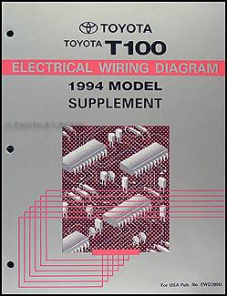 1994 toyota t100 truck wiring diagram manual original supplement. Black Bedroom Furniture Sets. Home Design Ideas