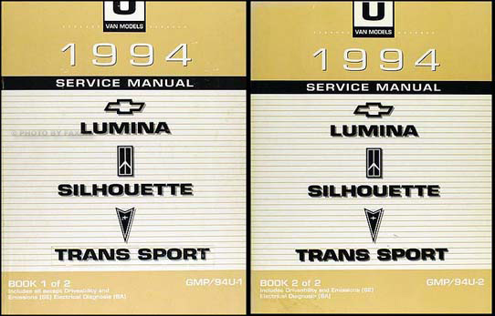 1994 lumina van silhouette trans sport repair shop manual original set rh faxonautoliterature com Parts Manual 1995 chevy lumina service manual