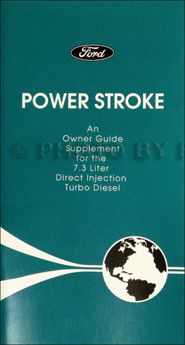 1995-1996 Ford Powerstroke 7.3L Diesel Engine Owner Manual Supplement