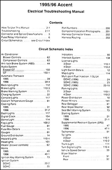 95 Hyundai Accent Wiring Diagram - Basic Guide Wiring Diagram •