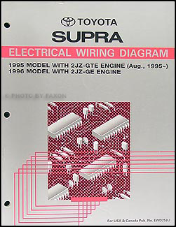 1995 1996 toyota supra wiring diagram manual original rh faxonautoliterature com toyota supra electrical wiring diagram toyota supra mk3 wiring diagram