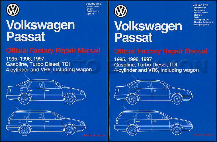 1995 1997 vw passat repair shop manual 2 volume set rh faxonautoliterature com vw passat owners manual pdf vw passat owners manual 2013